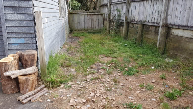 Auckland Yard Cleaning Rubbish Removal - Before